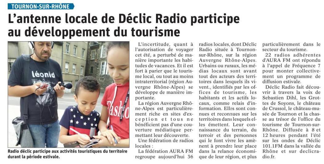 article dauphiné Declic radio AURA fm région auvergne rhone alpes