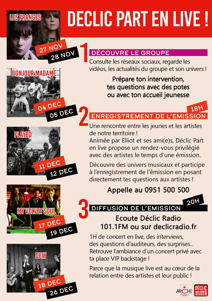 Déclic part en live Déclic Radio Centre socioculturel tournon