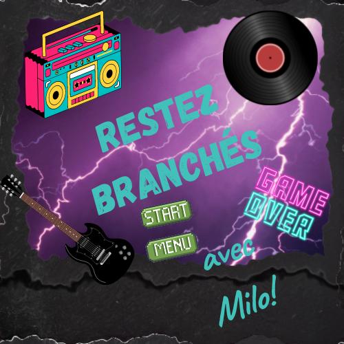 Déclic radio logo Restez branchés avec Milo !